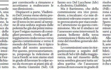 1 Dicembre 2012 la commissione ripropone Luca Fiordi Presidente